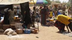 Africa - Mali Market Stock Footage