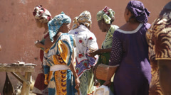 Africa - Mali market ladies Stock Footage