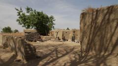 Africa - Mali village landscape Stock Footage