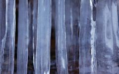 Apostle Islands Sea Caves - Icicles close-up Stock Photos