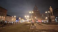 Moscow view Majakovskaya, time lapse Stock Footage