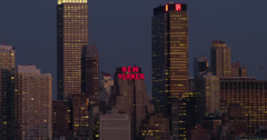 Th New Yorker and the Midtown Skyline - stock footage