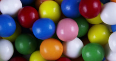 4K Spinning Colorful Gum Balls Stock Footage