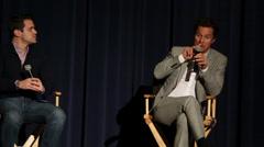 Matthew McConaughey Dallas Buyers Club Interview Stock Footage