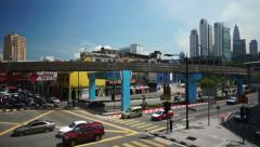 Kuala Lumpur, Malaysia, KL Monorail public transport Stock Footage
