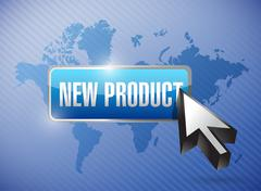 Stock Illustration of new product button illustration design