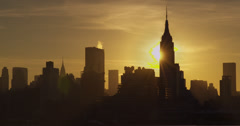 Midtown Against a Yellow Sunrise - stock footage