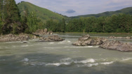 Stock Video Footage of panorama of the mountain river katun. altai krai. russia.