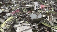 Airplane Wreckage, Accident, Scrap Metal - stock footage