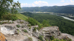 Panorama altai mountains from mount bloody finger. russia. Stock Footage