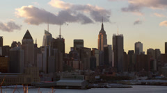 Clouds above Midtown Manhattan - stock footage