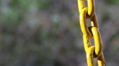 Closeup shot of Steel chain Stock Footage