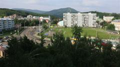 Balneological resort belokurikha in altai krai. russia. Stock Footage