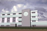 Stock Illustration of public building