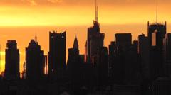 Keski-Manhattan at Sunrise Arkistovideo