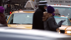 NYC Taxi Waiting a Light - stock footage