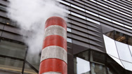 Stock Video Footage of NYC Street Steam Vent