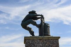 Winemaker city statue in napa valley california Stock Photos