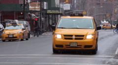 New York City Taxi Van Stock Footage
