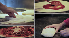 Stock Video Footage of Italian pizza preparation - composition