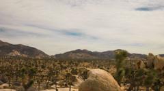 Joshua Tree Desert Cloudscape Time Lapse Stock Footage