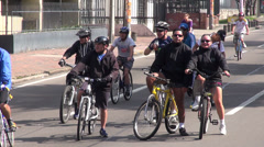 People Riding Bicycles, Bikes, Cycling, Transportation - stock footage
