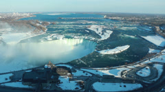 Niagara Falls Winter Afternoon 2 Stock Footage