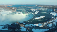 Stock Video Footage of Niagara Falls Winter Afternoon 2