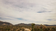 Stock Video Footage of 4K Joshua Tree Desert Cloudscape Time Lapse -Tilt Down-