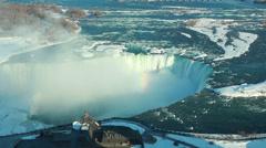 Niagara Falls Winter Afternoon 1 Stock Footage