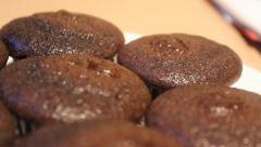 Fresh Baked Muffins Stock Footage