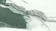 Niagara River Ice Jam Stock Footage