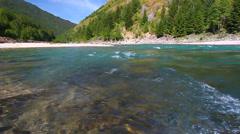 Flathead River Rapids Montana Stock Footage