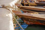Stock Photo of traditional abra boats in dubai