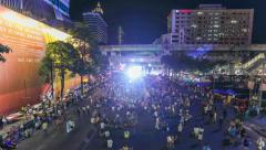Bangkok Protests Time Lapse Stock Footage
