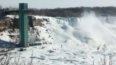 Niagara Falls Winter Panning Shot 1 - stock footage