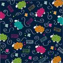 Stock Illustration of cute seamless pattern with sheep
