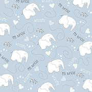 Stock Illustration of seamless baby elephant pattern