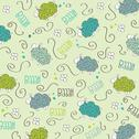 Stock Illustration of cute seamless pattern with sheeps