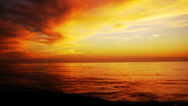 Stock Video Footage of Sunset Afterglow at the Ocean Time Lapse