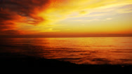 Stock Video Footage of 4K Sunset Afterglow at the Ocean Time Lapse -Tilt Up-