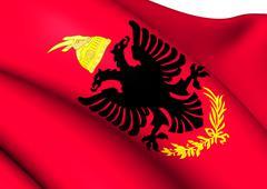 royal albanian army flag - stock illustration