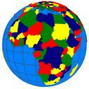 Stock Illustration of africa countries on globe