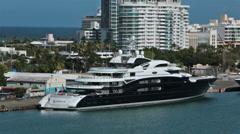 Luxury motor yacht Serene San Juan Puerto Rico HD 0744 Stock Footage