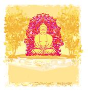 Stock Illustration of vector of chinese traditional artistic buddhism pattern