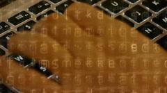 Writing computer code,Typing laptop Keyboard,computer Literate Operator. Stock Footage