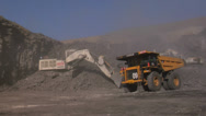 Mining - Pit Activity Stock Footage