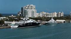 Luxury yacht Serene San Juan Puerto Rico HD 0742 Stock Footage