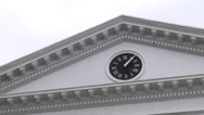 Stock Video Footage of ext. rotunda top with clock