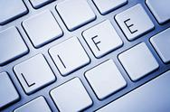 Stock Illustration of word life on computer keyboard